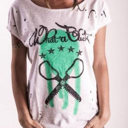 """An kei - """"Mad Logo OffWhite"""" marškinėliai trumpomis rankovėmis"""