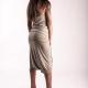 An kei OldGold Dress Curly