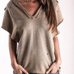 "An kei - ""OldGold Dirty Flecee"" suknelė-megztinis"