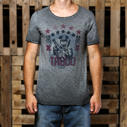 An kei Taboo tamsiai pilki marškinėliai