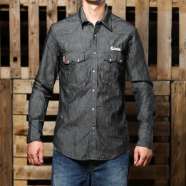 "Broke Clothing – ""Camicia Rodeo Grey Denim"" marškiniai"