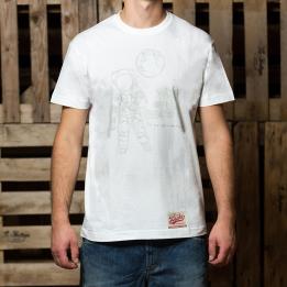 """ABA - Baltos spalvos """"Astronaut"""" marškinėliai"""