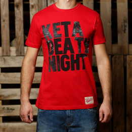 """ABA - Raudonos spalvos """"Keta Death Night"""" marškinėliai"""