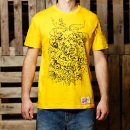 """ABA - Geltonos spalvos """"Our Greatest Sing"""" marškinėliai"""