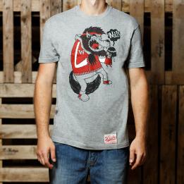 """ABA - Pilkos spalvos """"Cry Wolf"""" marškinėliai"""