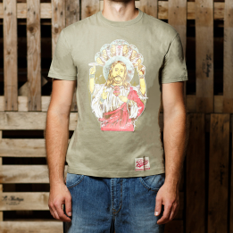 """ABA - Pistacijų spalvos """"Jesus Vishnu"""" marškinėliai"""