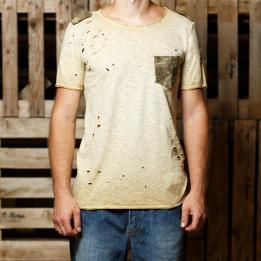 """An kei - """"Simple Military OldGold"""" marškinėliai"""