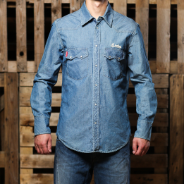"Broke Clothing – ""Camicia Rodeo Light Denim"" marškiniai"