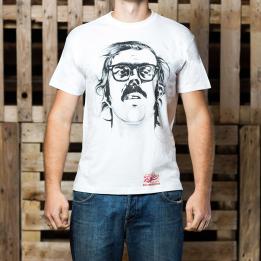 """ABA - Baltos spalvos """"Chuck Close"""" marškinėliai"""