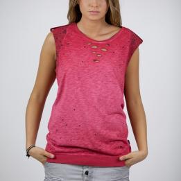 An kei Insert Burgandy T-shirt