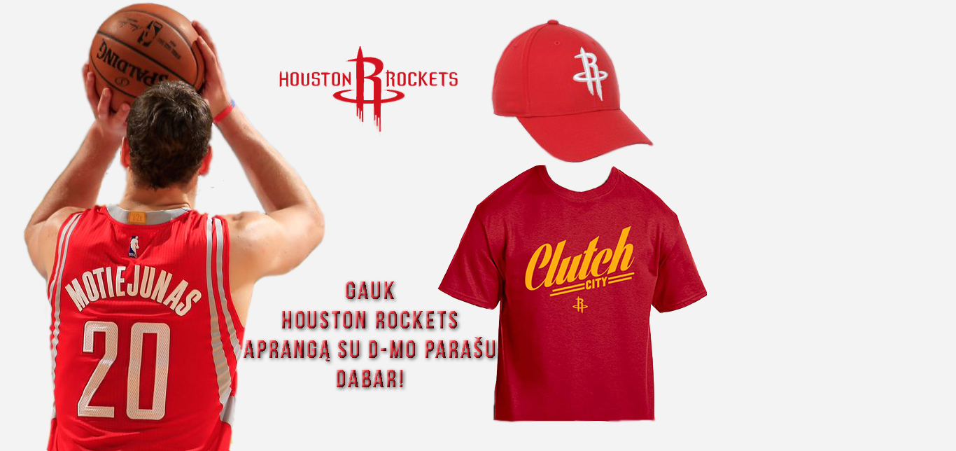 Houston Rockets atributika nemokamai